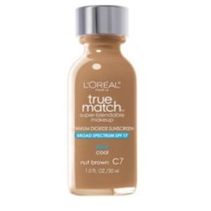 L'Oréal true match foundation. Nut brown